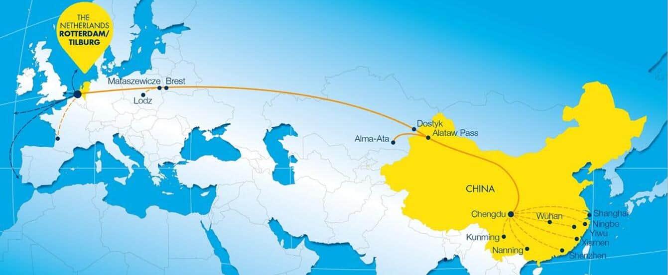 Rail shipping china to Netherlands
