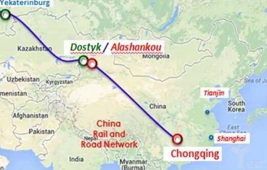 Rail freight route